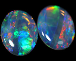 4.90 CTS GEM  CRYSTAL OPAL PAIR [SEDA2572]WHITE SAFE