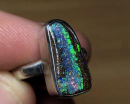 18ct Silver Boulder Opal Ring OJ101