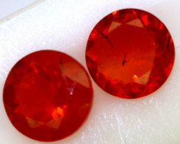 1.63- CTS MEXICAN FIRE OPAL  FACETED PAIR  FOB-1903