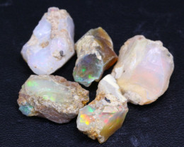 37.85Ct Multi Color Ethiopian Welo Gamble Rough Lot 23P328