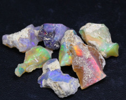 30.10Ct Multi Color Ethiopian Welo Gamble Rough Lot 23P334