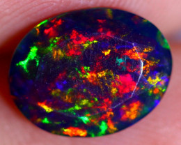 1.25cts  Ethiopian Welo Smoked Faceted Opal / JU413