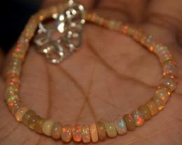 16 Crts Natural Ethiopian Welo Opal Beads Bracelet 890