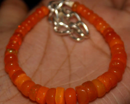40 Crts Natural Welo Smoked (Orange)Opal Beads Bracelet 886