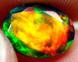 1.36cts Natural Ethiopian Faceted Smoked Opal / JU547