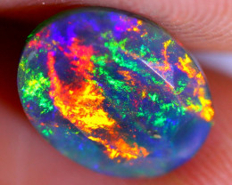 1.10cts Natural Ethiopian Faceted Smoked Opal / JU549