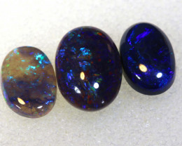 N2    -1.50CTS  L.RIDGE BLACK OPAL  POLISHED STONES PARCEL TBO-9843