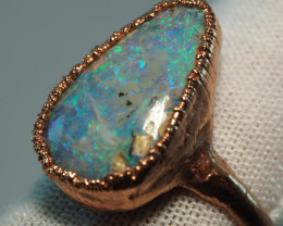24.90CT OPAL RING WITH ELECTRIC FORM COPPER  AA430