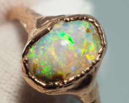 13.20CT OPAL RING WITH ELECTRIC FORM COPPER  AA433