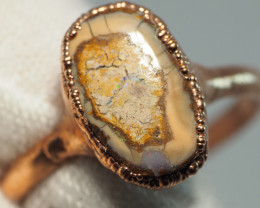 11.40CT OPAL RING WITH ELECTRIC FORM COPPER  AA435