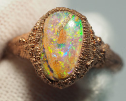 13.65CT OPAL RING WITH ELECTRIC FORM COPPER  AA437