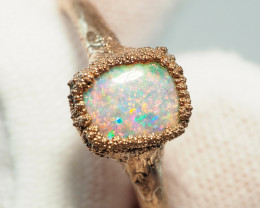 8.50CT OPAL RING WITH ELECTRIC FORM COPPER  AA439