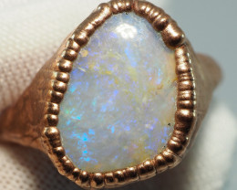 29.45CT OPAL RING WITH ELECTRIC FORM COPPER  AA440