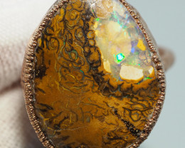 31.60CT OPAL RING WITH ELECTRIC FORM COPPER  AA442