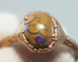 11.75CT OPAL RING WITH ELECTRIC FORM COPPER  AA449