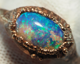 10.75CT OPAL RING WITH ELECTRIC FORM COPPER  AA451