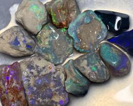 ROUGH TO CUT; 85 CTs of Lightning Ridge Rough Opals #1294