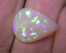 4.52ct BRILLIANT COLORS FULLY SATURATED MULTI PATERN CRYSTAL OPAL
