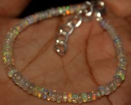 16 Crts Natural Ethiopian Welo Opal Beads Bracelet 904