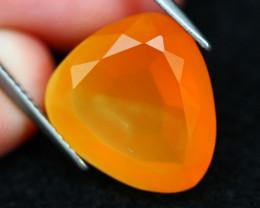 Mexican Fire Opal 8.45Ct Natural Vibrant Orange Color G0303