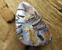 15cts, BOULDER MATRIX OPAL~SIDE DRILLED