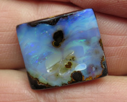 22cts, BOULDER OPAL~LOVELY SOFT BLUE'S