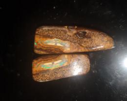 Boulder Opal pair 50cts