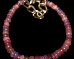 17 Crts Natural Welo Smoked Opal Beads Bracelet 870