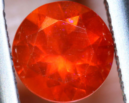 0.86- CTS MEXICAN FIRE OPAL  FACETED STONE   FOB-1971