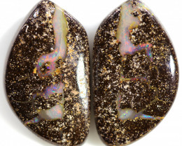 27.95 CTS WELL POLISHED PAIR BOULDER STONES [BMA8532]