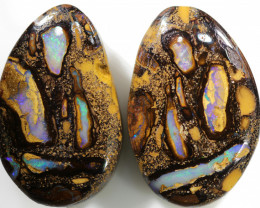46.30 CTS WELL POLISHED PAIR BOULDER STONES [BMA8536]