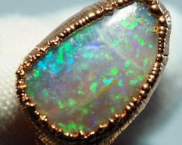 17.40CT OPAL RING WITH ELECTRIC FORM COPPER  AA458