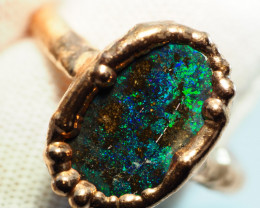19.60CT OPAL RING WITH ELECTRIC FORM COPPER  AA459