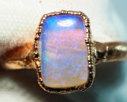 13.20CT OPAL RING WITH ELECTRIC FORM COPPER  AA463
