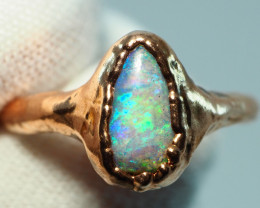 12.80CT OPAL RING WITH ELECTRIC FORM COPPER  AA464