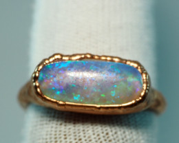 21.25CT OPAL RING WITH ELECTRIC FORM COPPER  AA468