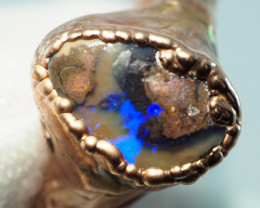 13.45CT OPAL RING WITH ELECTRIC FORM COPPER  AA487