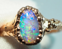 14.65CT OPAL RING WITH ELECTRIC FORM COPPER  AA488