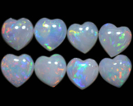 2.10 CTS HEART SHAPED NATURAL FIRE OPAL  PARCEL [SEDA2645]