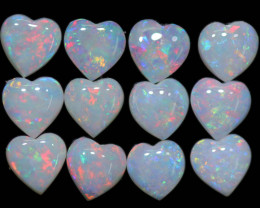 5.07 CTS HEART SHAPED NATURAL FIRE OPAL  PARCEL [SEDA2648]