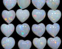 8.10 CTS HEART SHAPED NATURAL FIRE OPAL  PARCEL [SEDA2649]