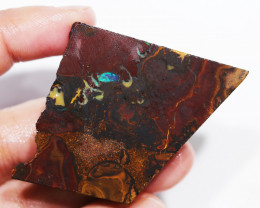 136.70 CTS  CHOCOLATE IRONSTONE / WHITE OPAL ROUGH [BY8099]