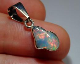 .925 Sterling Blazing Welo Solid Opal Pendant