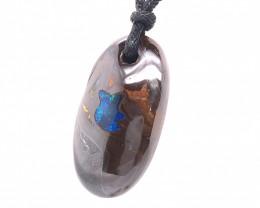 Inlay Boulder Opal   Pendant OPJ 2503