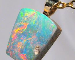 Australian Opal Doublet Pendant 14k Gold Gift 3ct