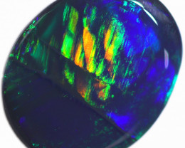 1.31 CTS BLACK OPAL STONE-FROM  OLD COLLECTION- [LROG753]