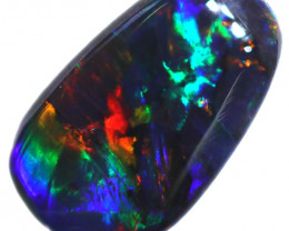 0.36 CTS BLACK OPAL STONE-FROM  OLD COLLECTION- [LROG765]