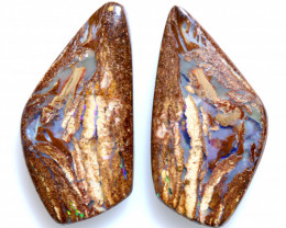 11.40 CTS BOULDER WOOD FOSSIL OPAL STONE PAIR  NC-6669