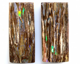 12.45 CTS BOULDER  WOOD FOSSIL OPAL STONE PAIR  NC-6681
