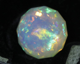 13.25 ct Master cut faceted gem crystal Welo opal.